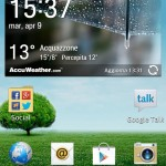 LG Optimus 4x HD widget Meteo
