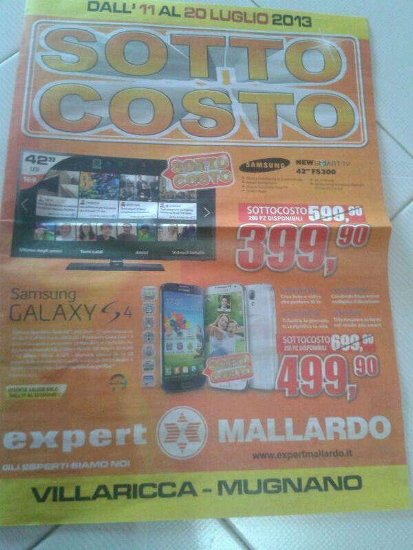 Offerta Expert - Samsung Galaxy S4 a soli 499 euro
