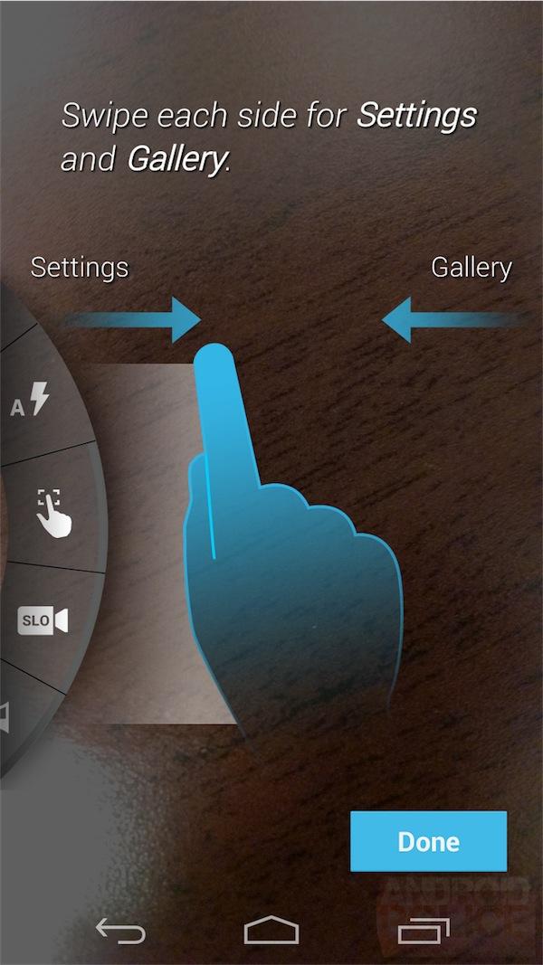 Applicazione fotocamera Moto X