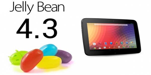 L'aggiornamento Android 4.3 arriva anche su Nexus