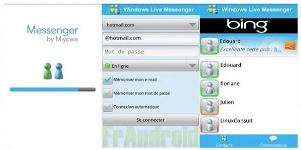 Spunta su android una nuova applicazione, MSN