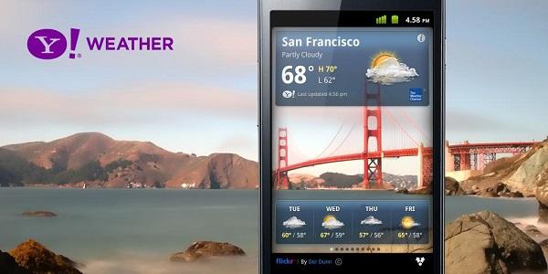 Aggiornamento app Yahoo! Meteo su Android