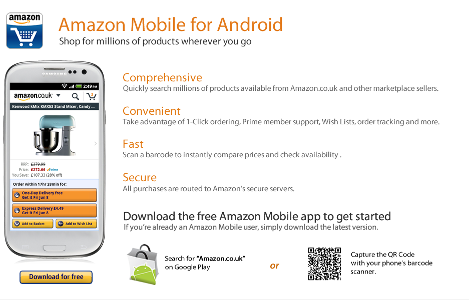 amazon app shop android