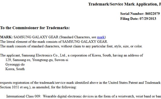 marchio Galaxy Gear Samsung