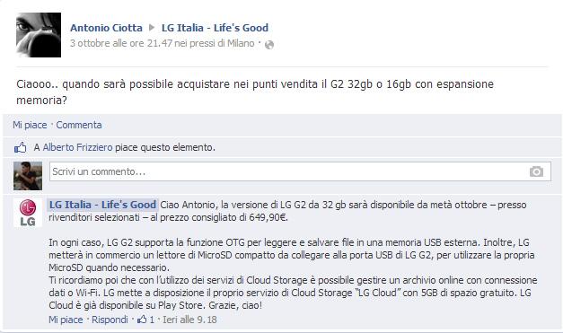 Facebook-LGItalia