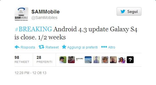 tweet SAMMobile