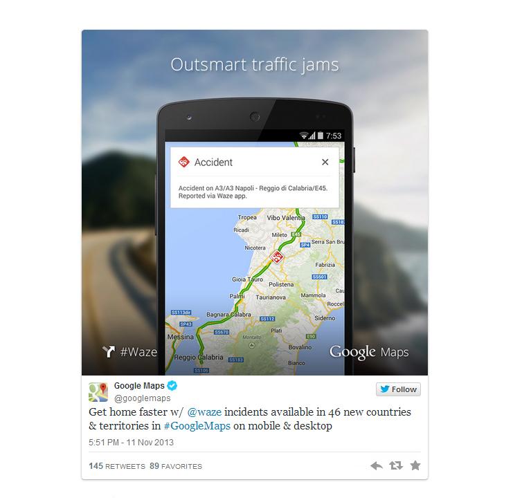 Maps-tweet