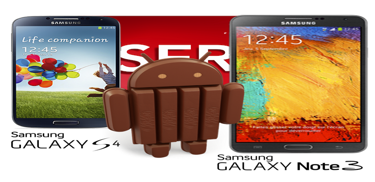 Android 4.4 Galaxy Note 3 e Galaxy S4