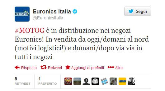 Euronics- tweet-Motog