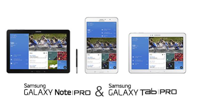 Samsung NotePro e TabPro