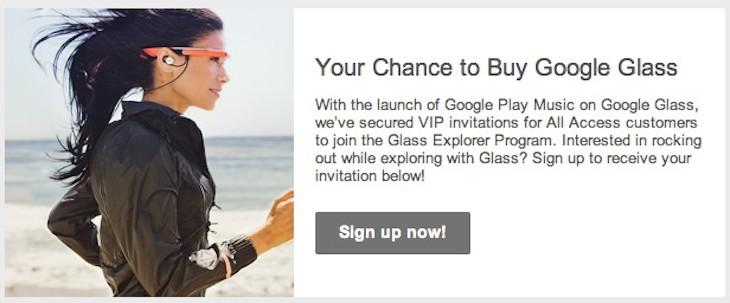 invito Google Glass