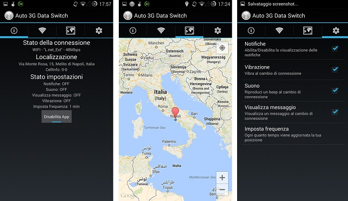 Auto WiFi 3G Data Switch