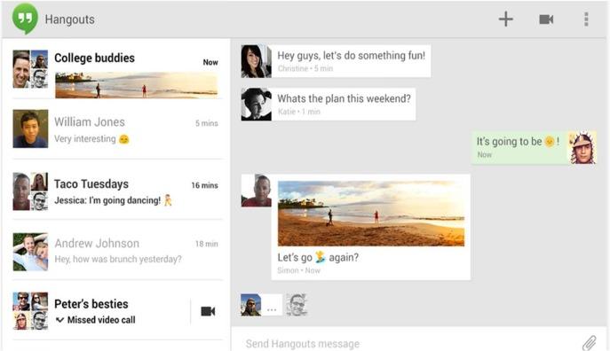 Hangouts su Android