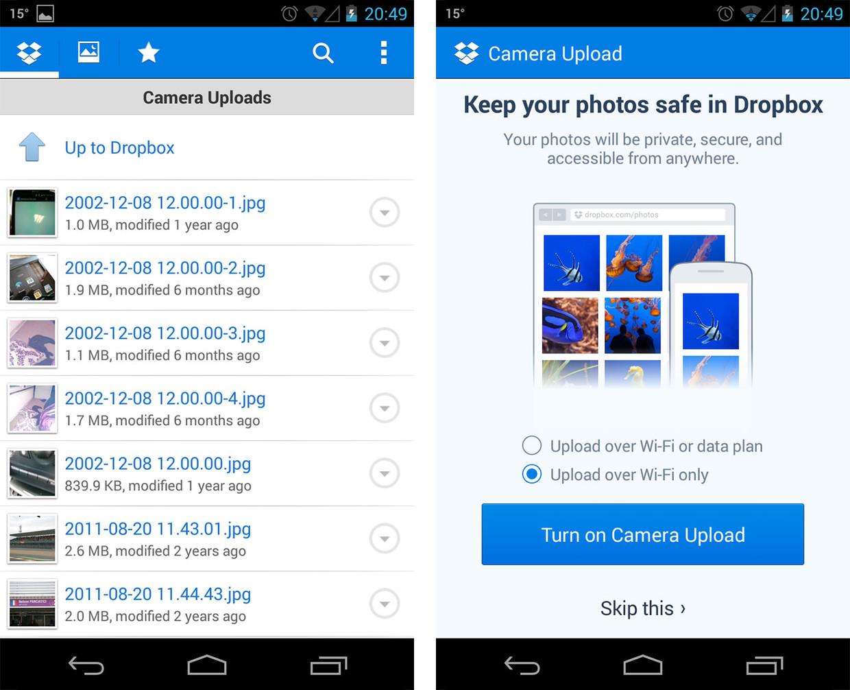 Come funziona Dropbox su Android