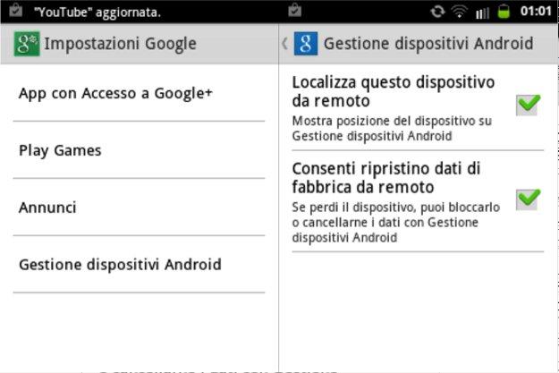 Come ritrovare lo smartphone con Gestione Dispositivi Android