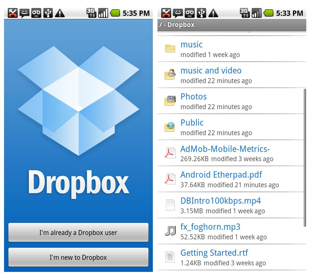 Dropbox su Android