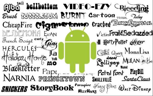 Cambiare font su Android