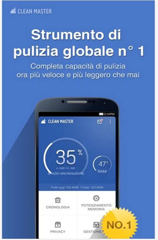 Clean Master Migliori utility Android