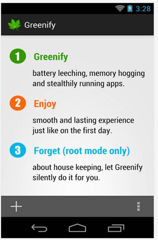 Come risparmiare batteria Android Greenify
