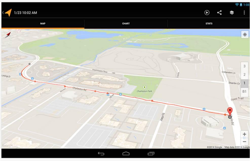 My Tracks applicazioni Android per bici