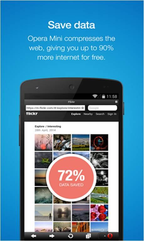 Opera Mini come consumare meno traffico internet su smartphone Android