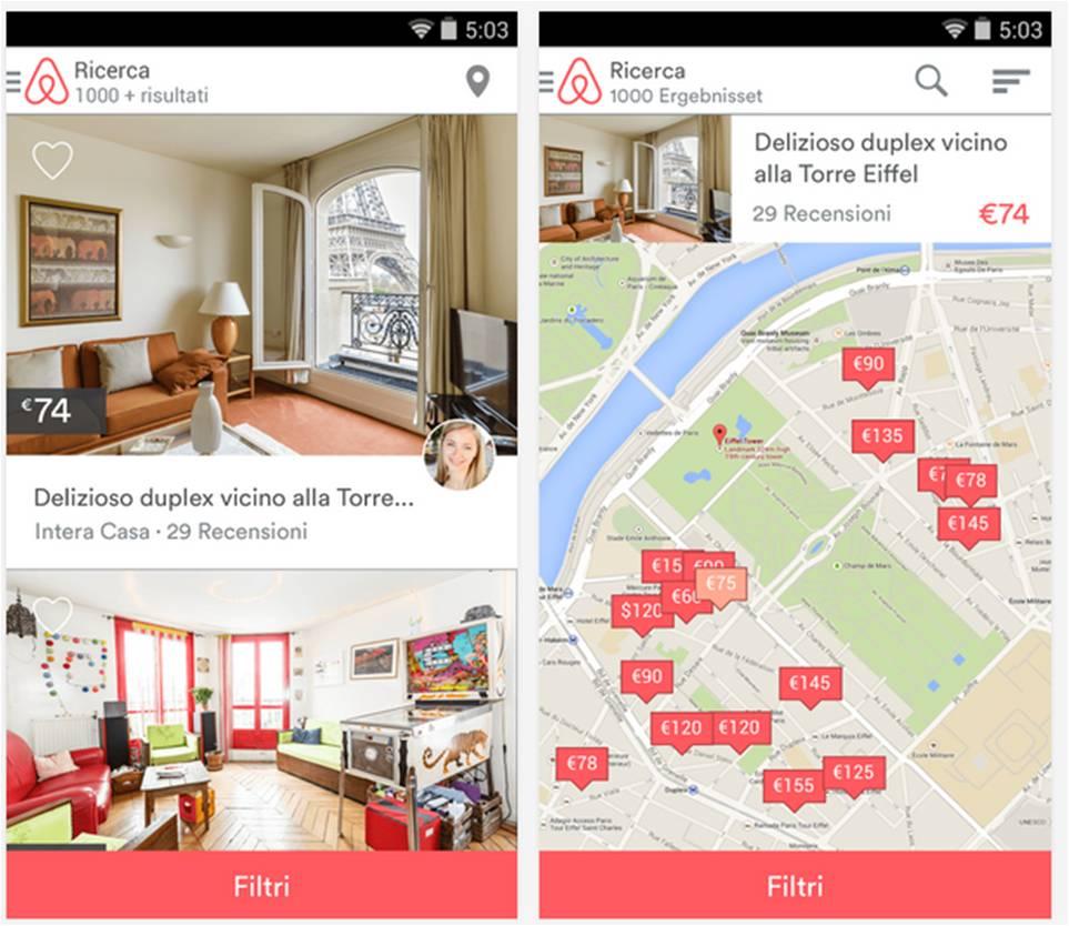 Airbnb applicazioni Android vacanze