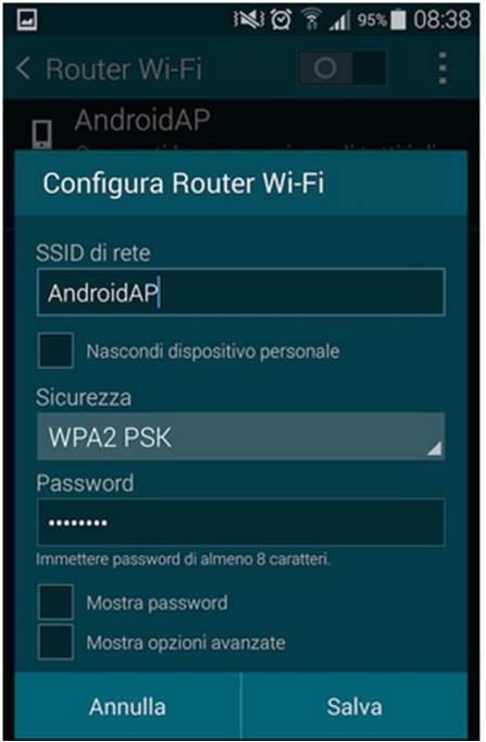 Come condividere la connessione internet con Android