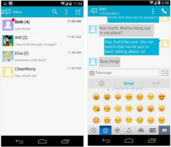 Handcent SMS applicazioni Android per inviare messaggi gratis