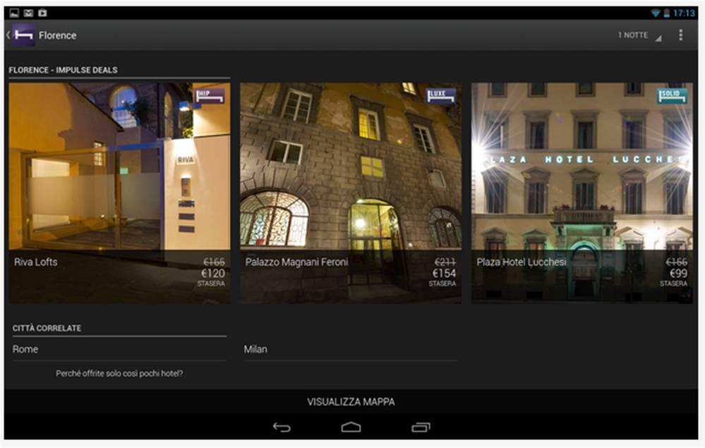 Hotel Tonight applicazioni Android vacanze