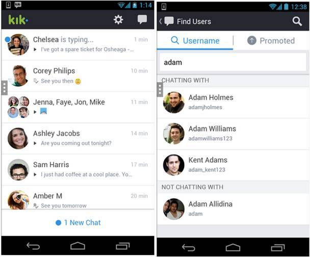 Kik applicazioni Android per inviare messaggi gratis