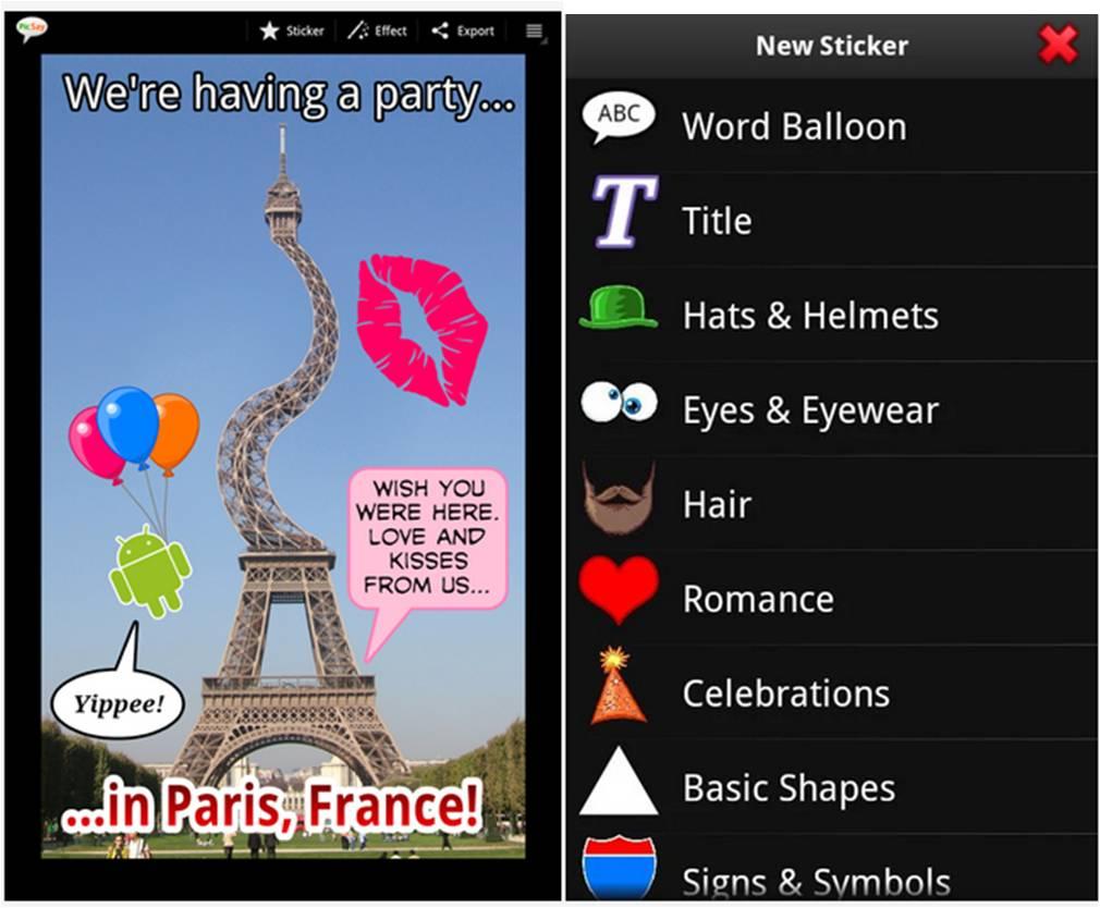 PicSay – Photo Editor app foto Android