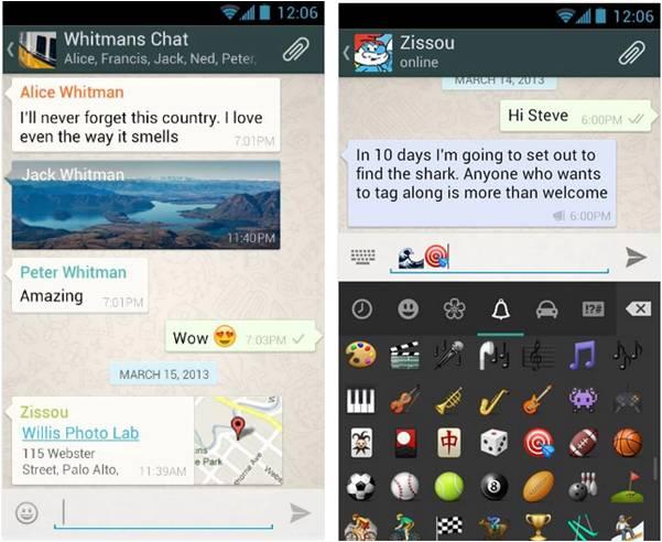 WhatsApp applicazioni Android per inviare messaggi gratis
