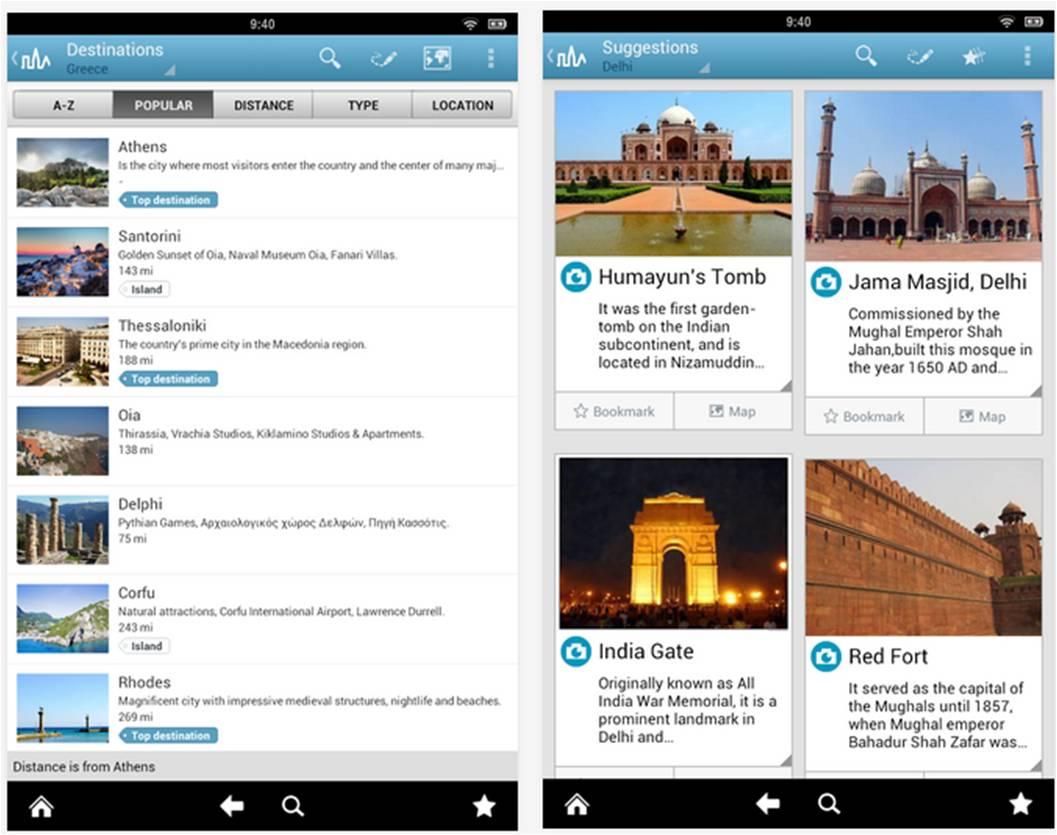 World Travel Guide applicazioni Android vacanze