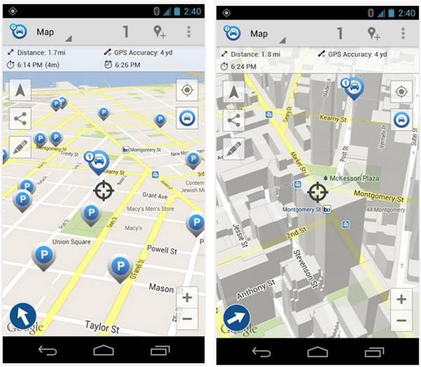 Car Finder AR app Android ricorda parcheggio