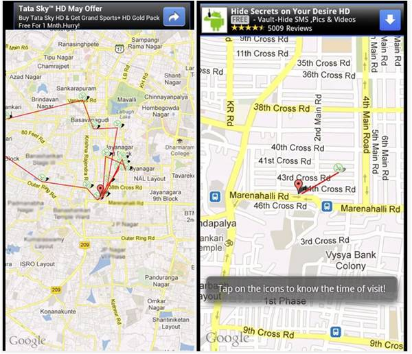 Cell Tracker applicazioni spia Android