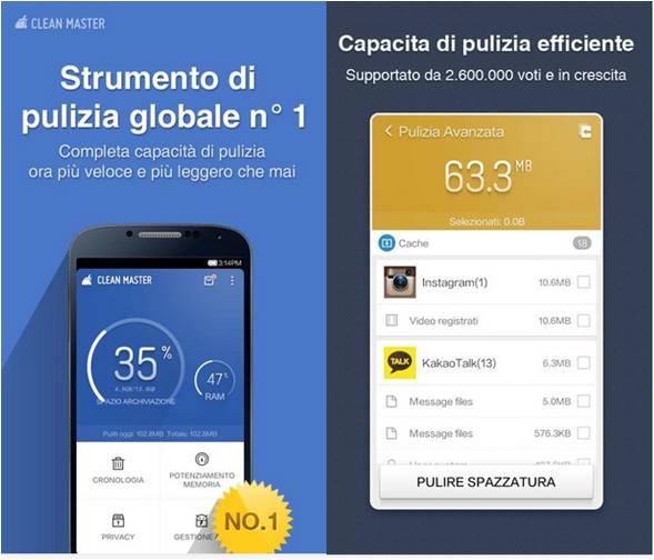 Come espandere memoria Android con Clean Master Phoone Boost