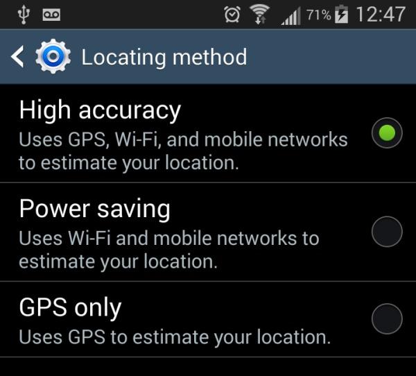 Come modificare le impostazioni di posizione su Android precisione elevata risparmio energetico solo GPS