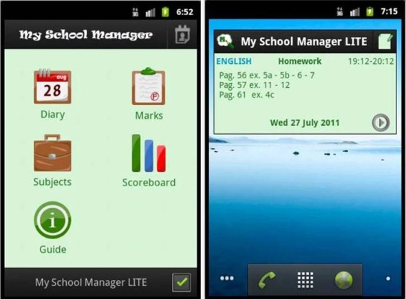 My School Manager Lite migliori applicazioni Android per la scuola