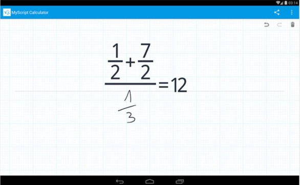 MyScript Calculator migliori applicazioni Android per la scuola