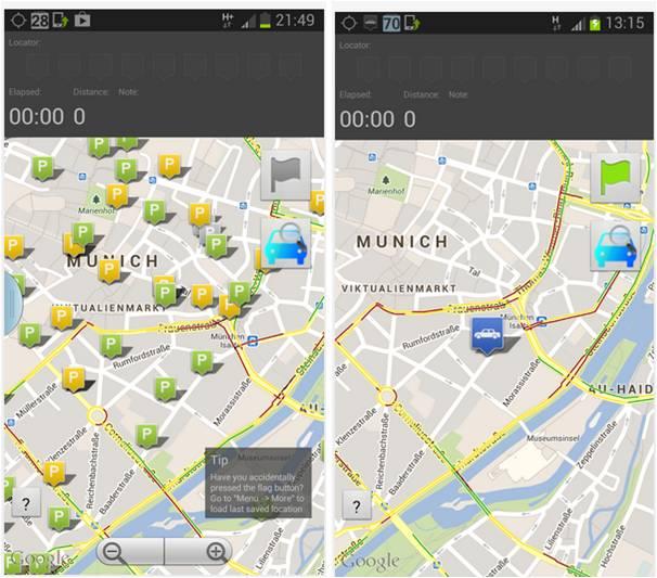 Park Droid app Android ricorda parcheggio