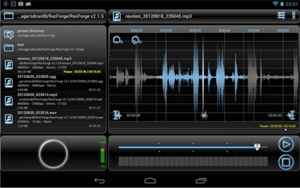RecForge Lite – Audio Recorder registratori vocali per Android