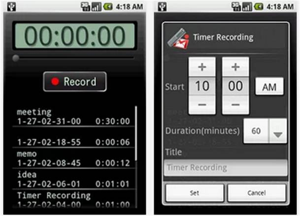 Voice Recorder registratori vocali per Android