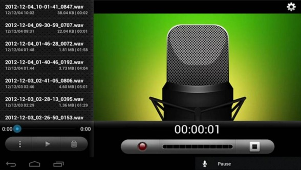 eRecorder registratori vocali per Android