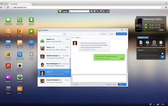 Airdroid desktop manager per Android