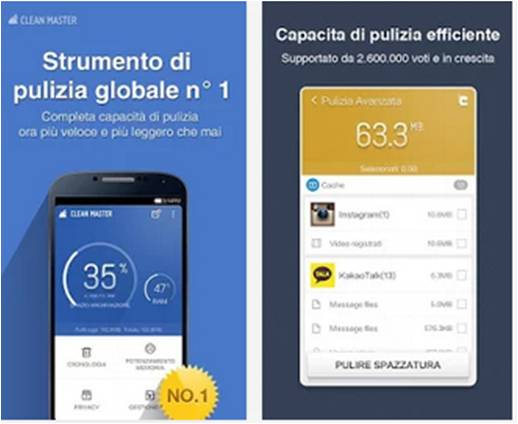 Clean Master applicazioni Android indispensabili