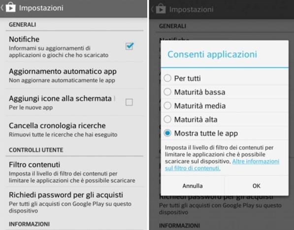Come abilitare il filtro di sicurezza sul Play Store di Google