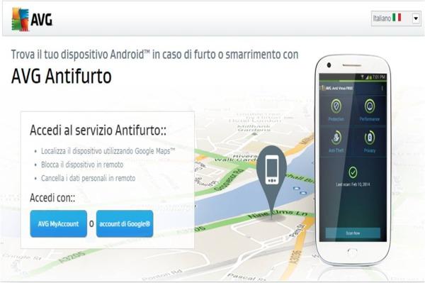 Come localizzare uno smartphone Android con AVG