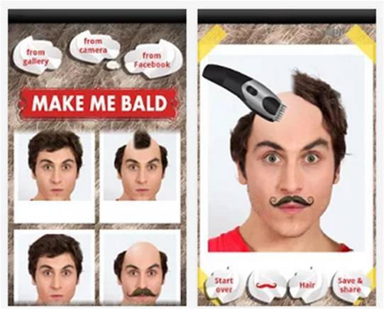 Make Me Bald applicazioni Android divertenti