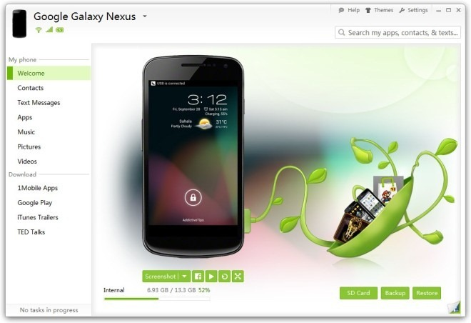 SnapPea desktop manager per Android