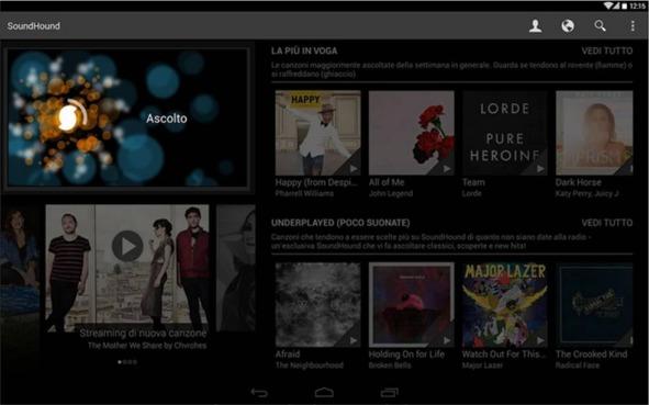 SoundCloud riconoscere la musica da Android